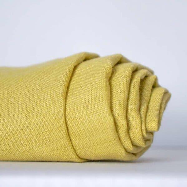 בד פשתן צהוב